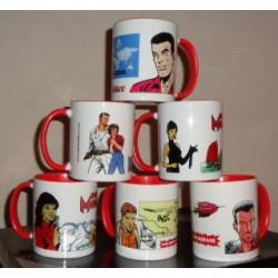Bob Morane - Set de 6 mugs...
